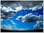 Wind turbines and clouds, Washington