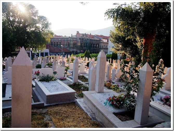 Cemetery in a park, Mostar