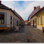 Cobbled streets, Eger