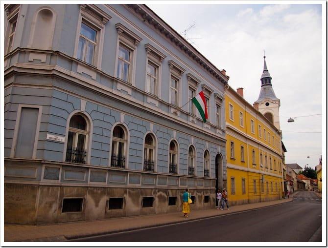 Colourful buildings, Eger
