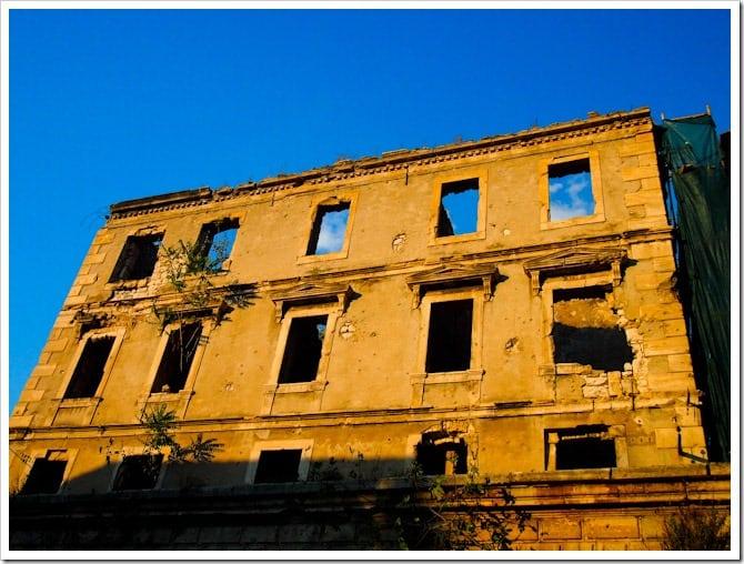 Derelict building, Mostar