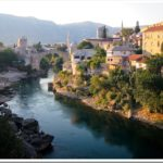 Mostar river and Old Bridge