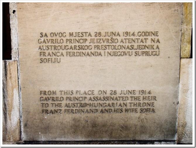 Sarajevo plaque