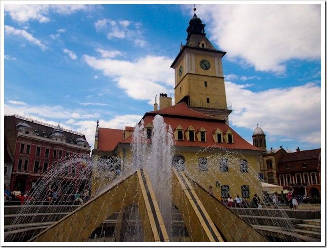 Brasov town square
