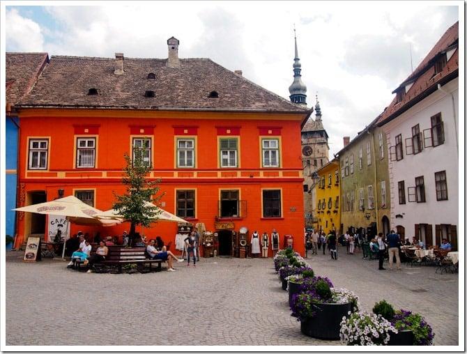 Sighisoara town square