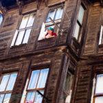Woman in window, Istanbul
