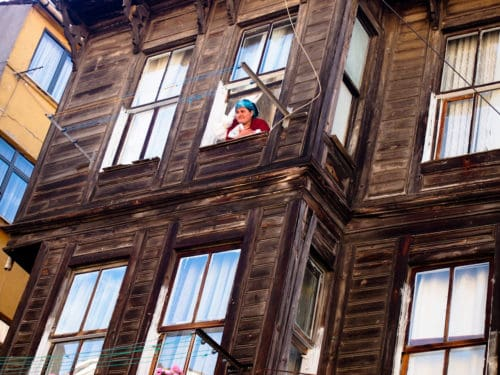 Woman in window, Istanbul