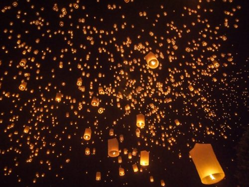 Sky full of lanterns