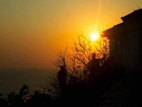 Green Bowl beach sunset, Bali