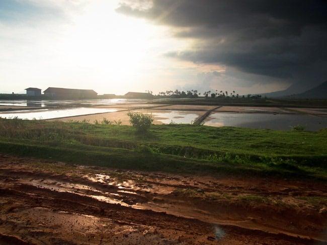 Mud and clouds near Kampot
