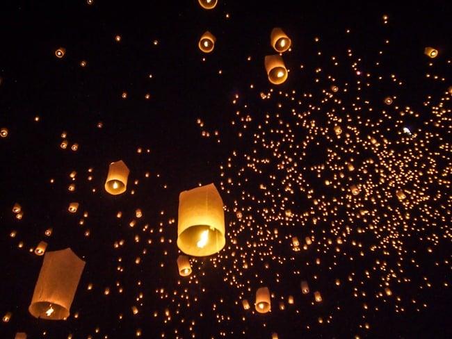 Rising lanterns