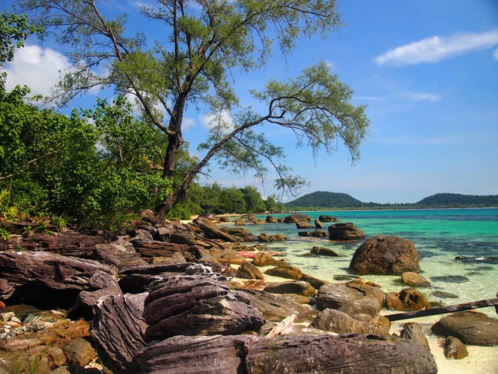 Rocky shoreline, Koh Rong