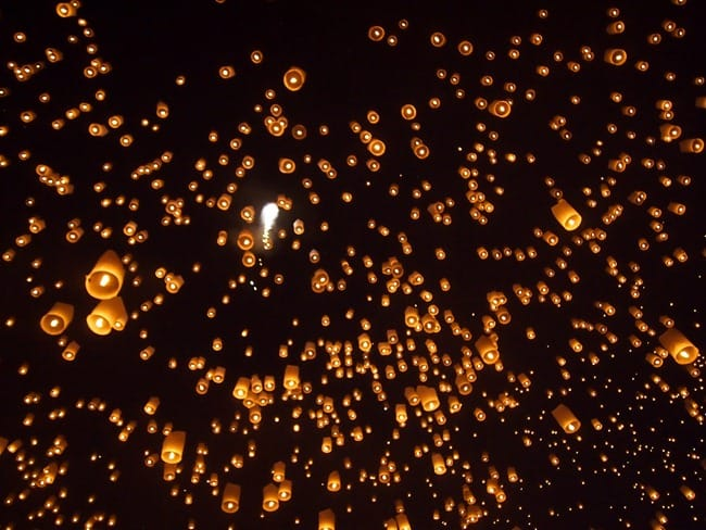 Thousands of lanterns