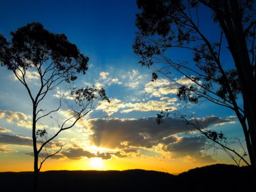 Echo Point sunset, Blue Mountains