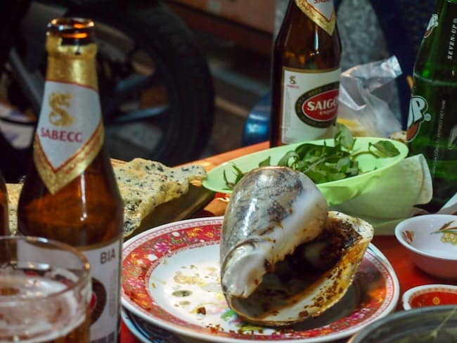 Remains of dinner, Saigon