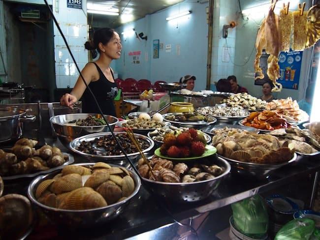 Seafood stall, Saigon