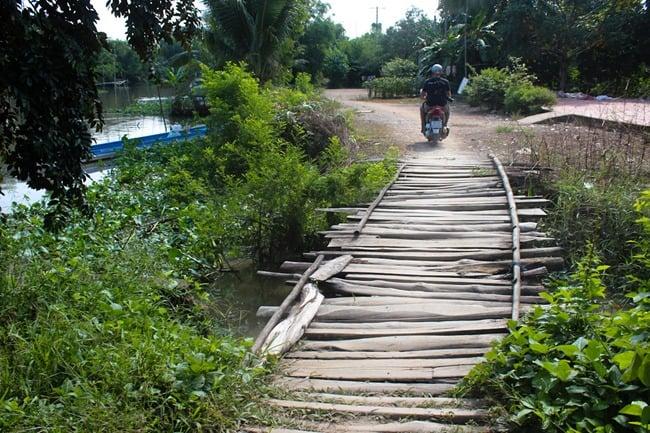 Dodgy bridge, Mekong Delta