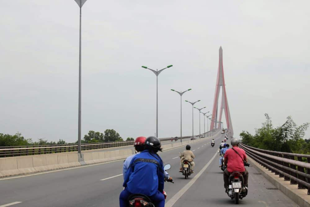 Busy highway, Mekong Delta
