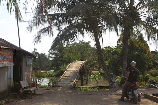 Rickety bridge, Mekong Delta