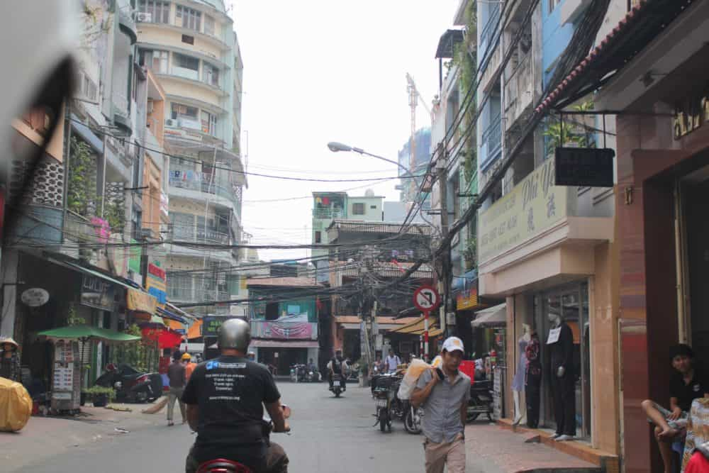 Scooter trip - leaving Saigon
