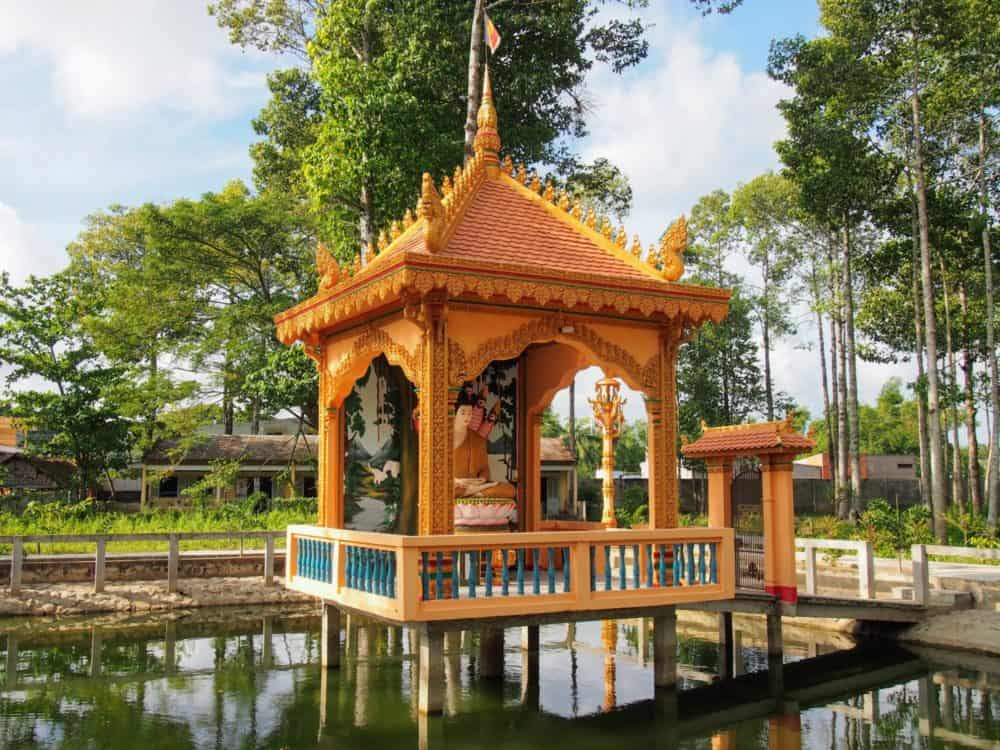 Temple grounds, Tra Vinh