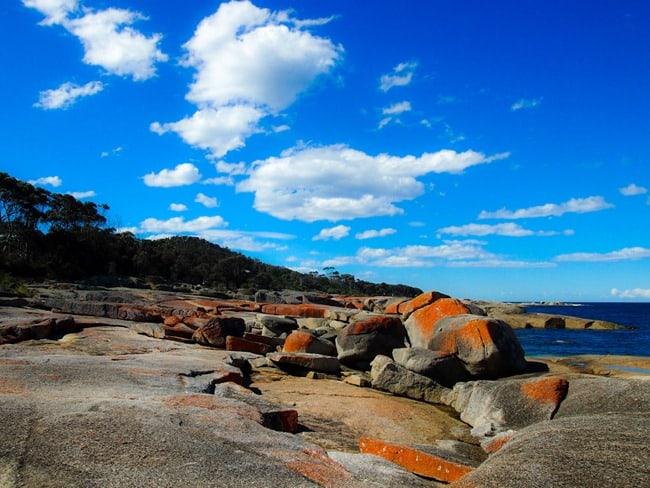 Bicheno Blowhole rocks