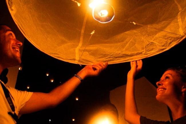 Dave and Lauren lantern