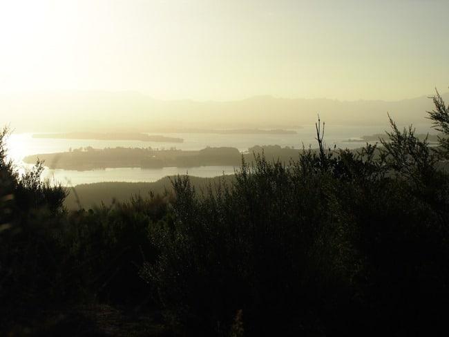 Hazy sunset, Mount Maunganui
