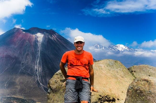 Tongariro - Dave at the summit