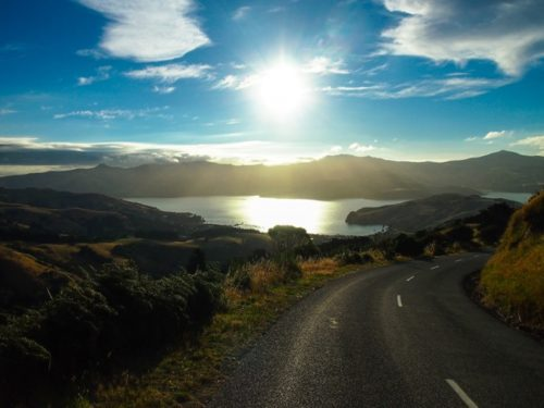Akaroa road in the evening