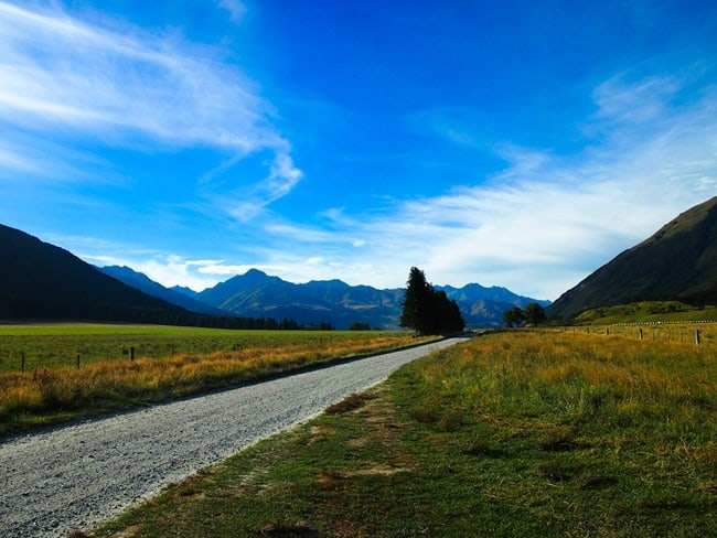 Road to Mt Aspiring National Park