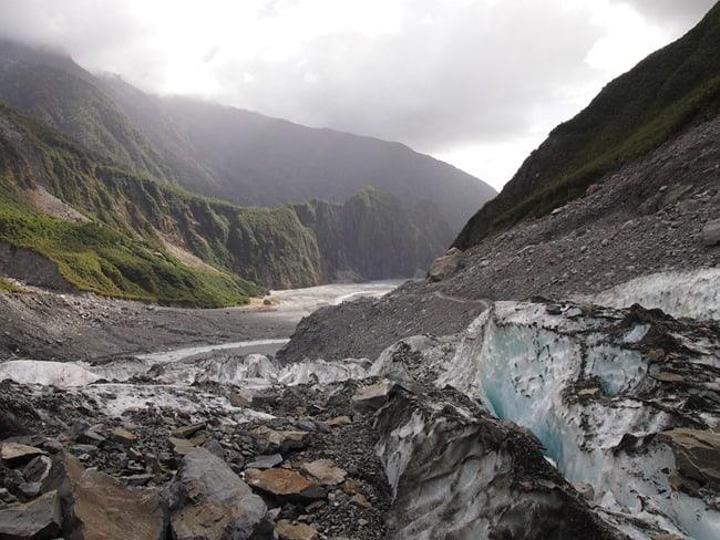 Looking down the valley, Fox Glacier