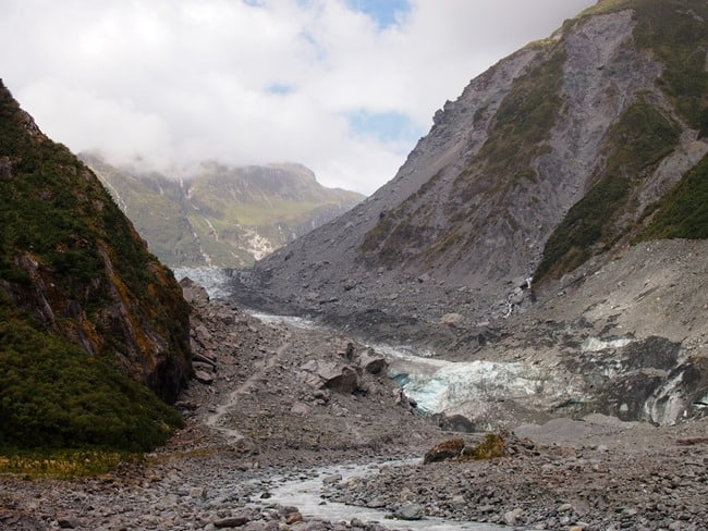 Fox glacier retreat