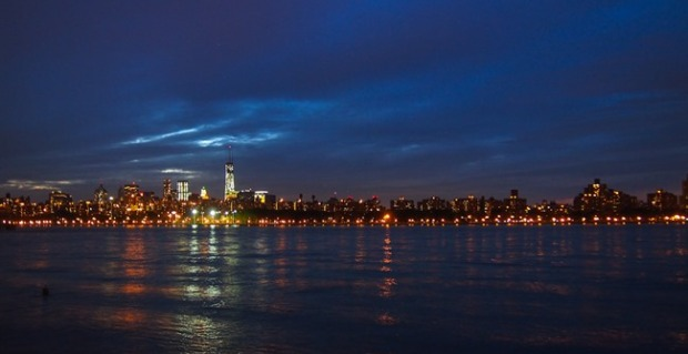 Manhattan at nightfall