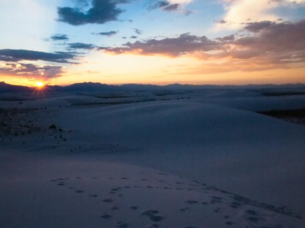 White Sands - final ray of light