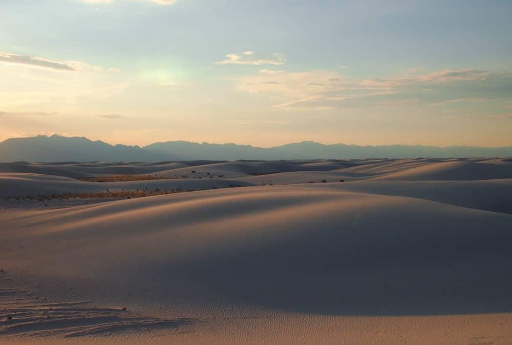 White Sands - golden light