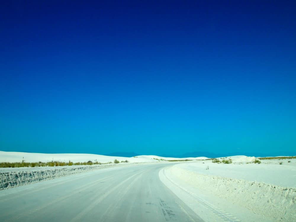 White Sands - road