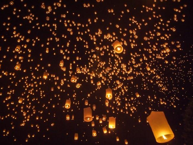 Sky full of lanterns