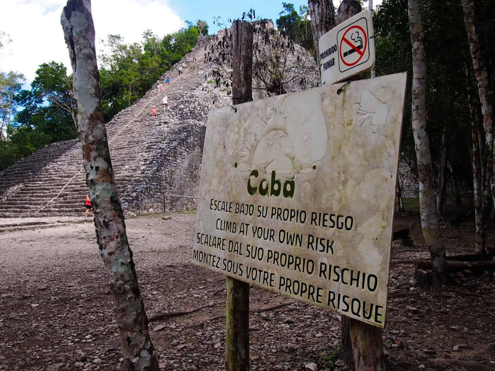 Coba - climb at own risk
