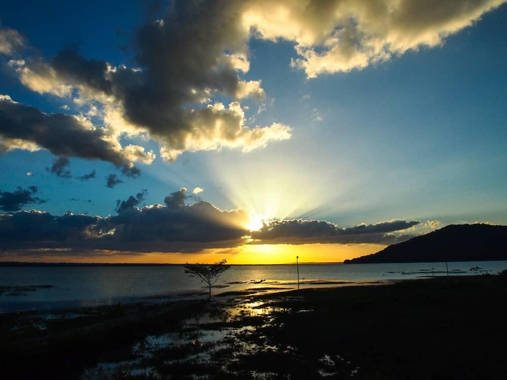 Sunset over Lake Petén Itzá
