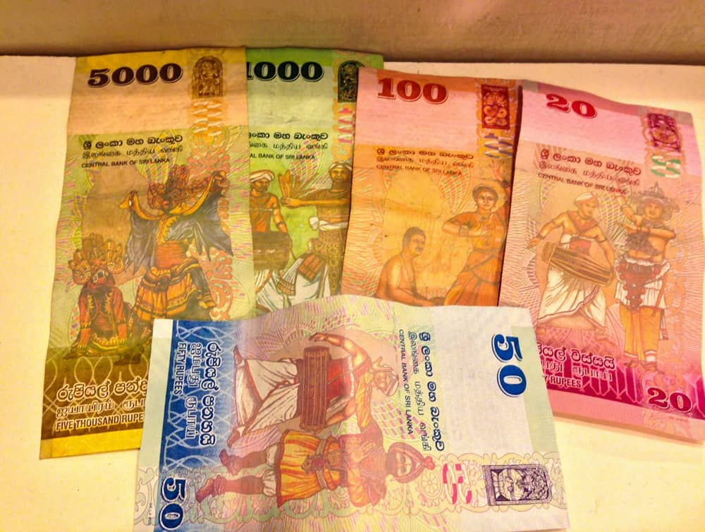 Sri Lankan money