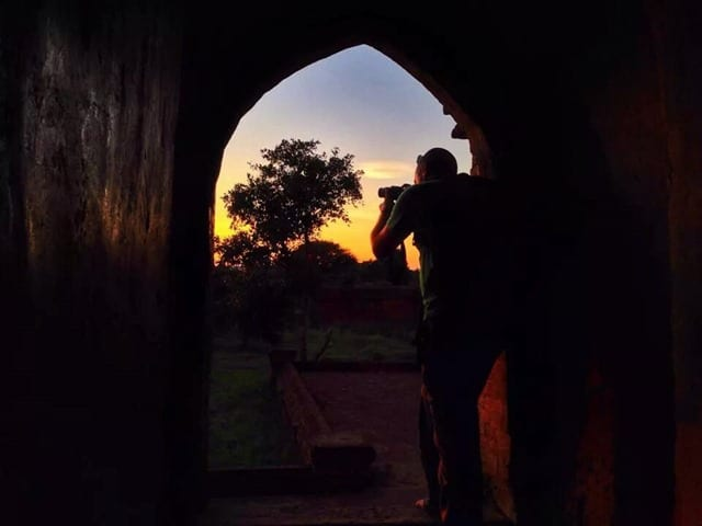 Dave taking photos in Bagan