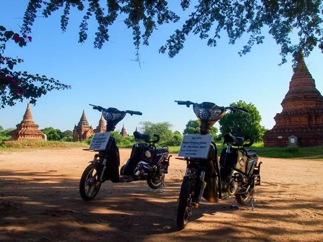 Electric bikes in Bagan