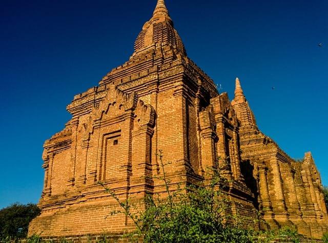 Golden light, temple