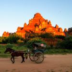Horse and carriage at Bagan