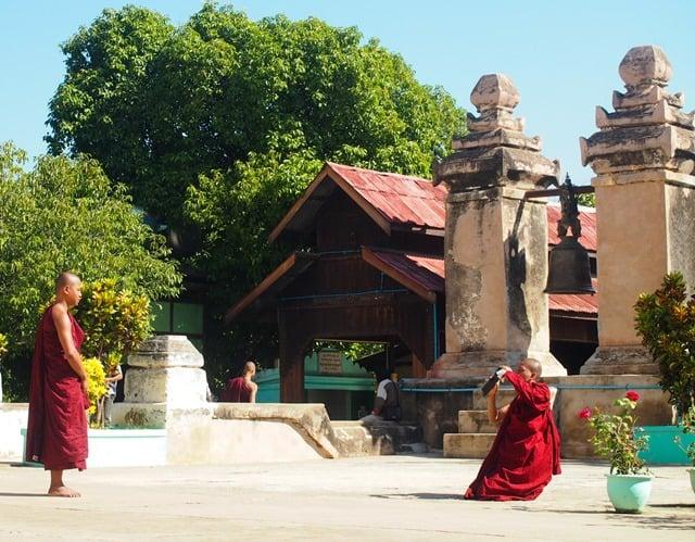 Monks taking photos