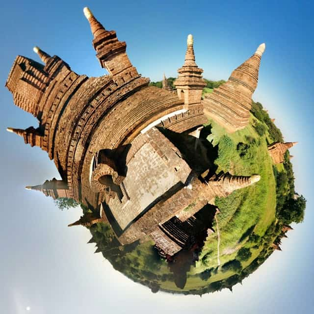Tiny Planet Bagan