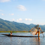 Dancing fisherman on Inle Lake