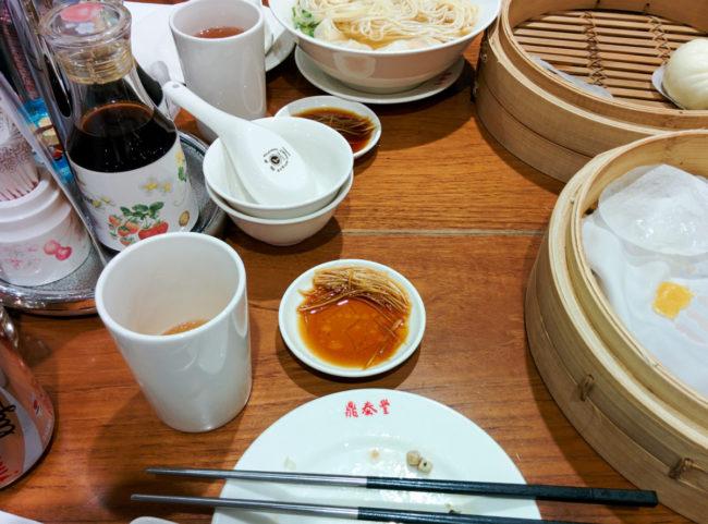 Remains of dumplings