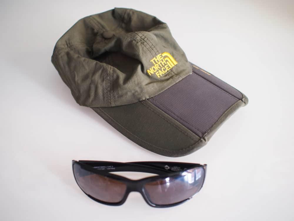 Camino cap and sunglasses